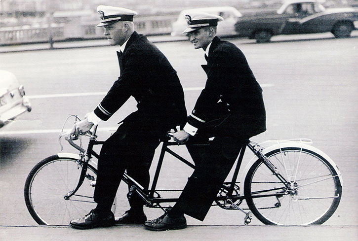 Cold-War-Coral-Sea-Officers-on-bike