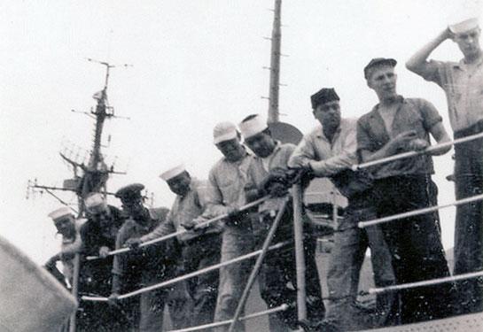 Cold-War-Crew-Onboard-sailors-looking-down