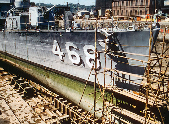 Cold-War-Ship-Photos-DryDock-after-Sasebo-ramming