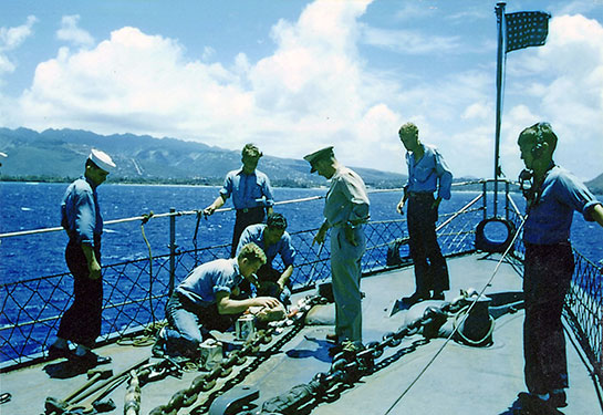 Korea-Ship-sailors-and-officer-on-bow