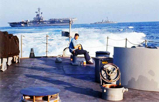 Vietnam-Crew-Onboard-man-on-stern