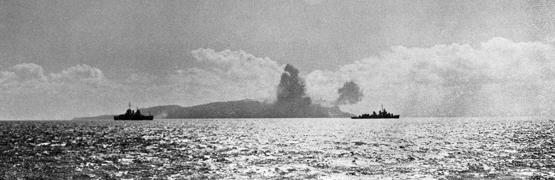WW-II-Ship-History-Combat-Bombarding-Corregidor