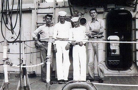 The-Ship-Crew-Korea-4-sailors-at-railing