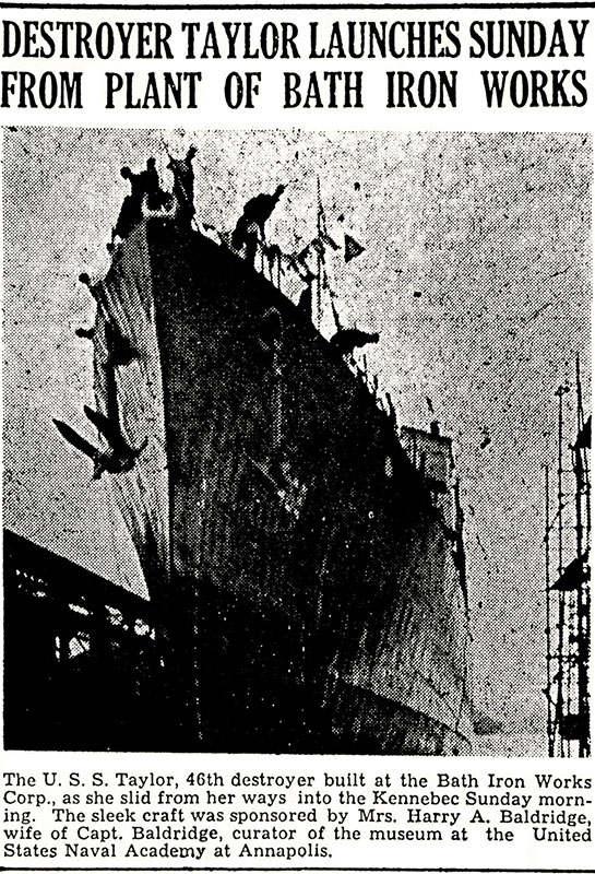 The-Ship-News-WW-II-Launch-of-USS-Taylor-Bath-Iron-Works