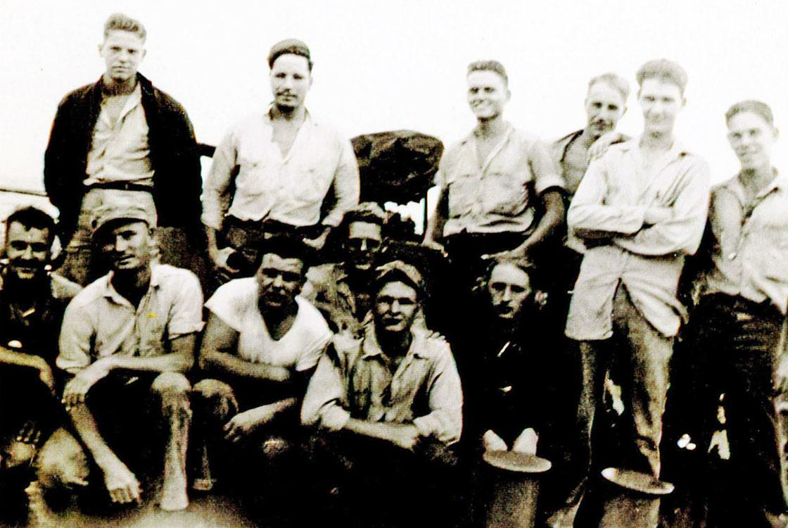 WW-II-Crew-Photos-Taylor-Sailors-on-deck