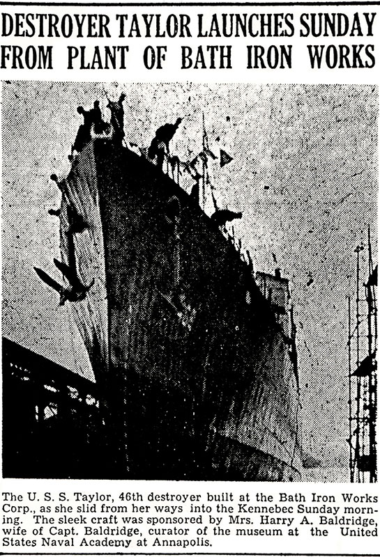 WW-II-News-&-Events-Launch-of-USS-Taylor-Bath-Iron-Works