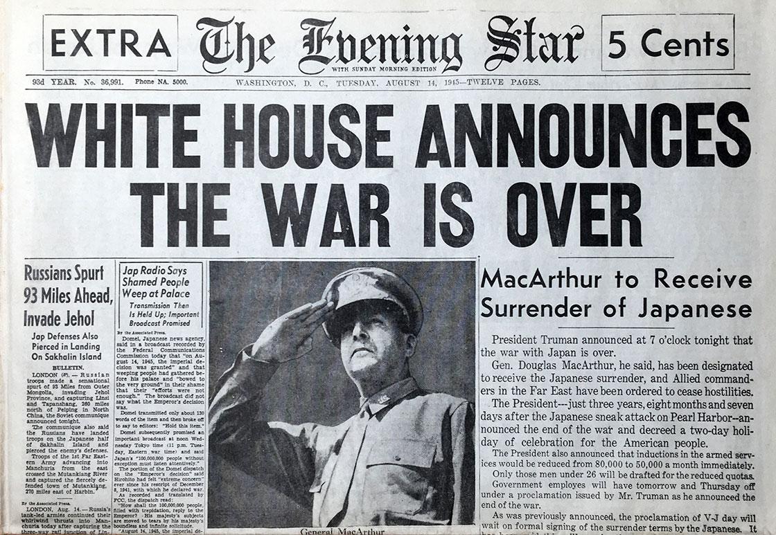 WW-II-Surrender-Evening-Star-Wash-DC