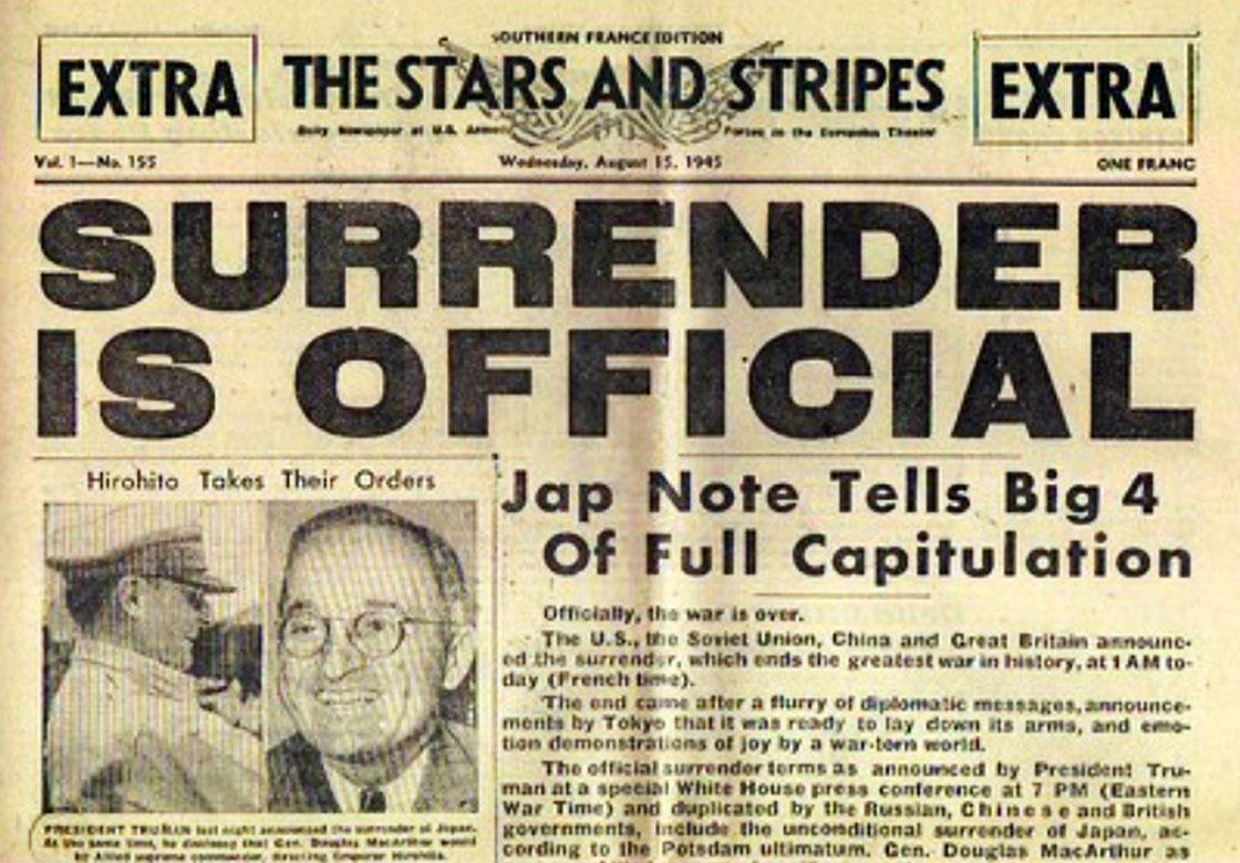 WW-II-Surrender-Stars-Stripes-Surrender-Official